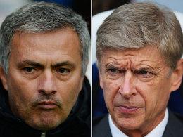José Mourinho (links) und Arsene Wenger