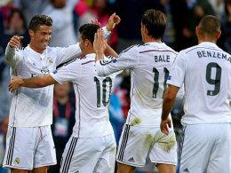 Matchwinner: Cristiano Ronaldo (li.) erzielte beide Treffer von Real Madrid.