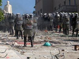Unruhen in Athen