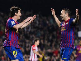 Lionel Messi und Andres Iniesta