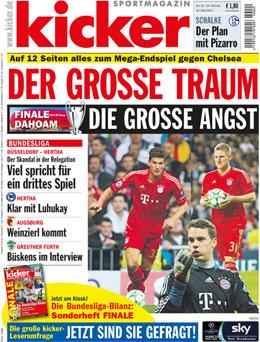 Aktuelle kicker-Ausgabe 41/2012 vom 18.05.2012