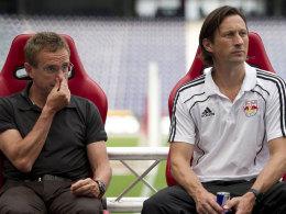 Ralf Rangnick (li.) und Roger Schmidt