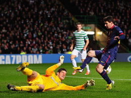 Celtic-Keeper Forster rettet in höchster Not gegen Messi