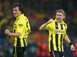 Mats Hummel (li.) und Marcel Schmelzer