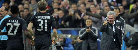 Bayern-Coach Jupp Heynckes freut sich