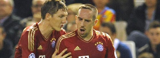 Bastian Schweinsteiger und Franck Ribery