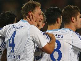 Schalkes Höwedes köpfte das zwischenzeitliche 1:0.