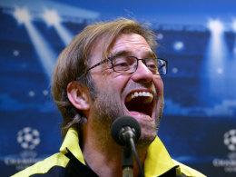Jürgen Klopp am Montagabend auf der Pressekonferenz vor dem Heimspiel gegen Manchester City