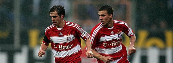 Philip Lahm und Lukas Podolski