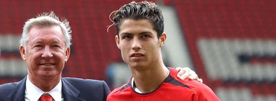Sir Alex Ferguson und Cristiano Ronaldo