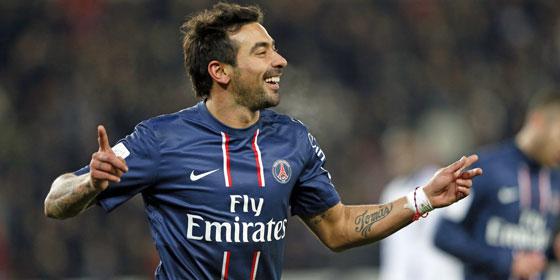 PSG-Stürmer Ezequiel Lavezzi ist er beste Torjäger der Franzosen in der Königsklasse.