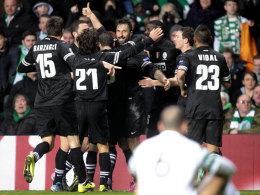 Juventus Turin jubelt im Celtic-Park