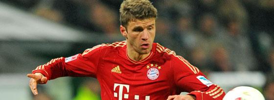 Thomas Müller will mit dem FC Bayern auch in der Champions League beim FC Arsenal bestehen.