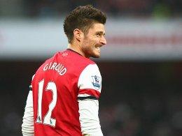 Zähne zeigen vor dem Rückspiel in München: Arsenal-Stürmer Olivier Giroud.