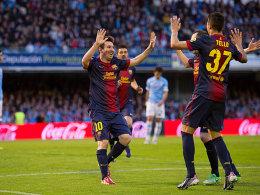 Lionel Messi (li.)