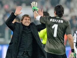 Antonio Conte und Gianluigi Buffon