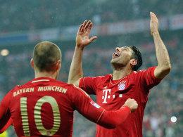 Arjen Robben und Claudio Pizarro betrieben gegen HSV richtig viel Eigenwerbung.
