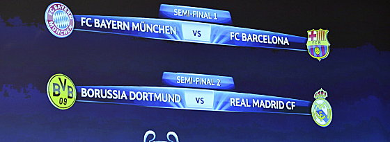 Ein deutsches Endspiel ist möglich: Bayern und Dortmund gehen sich aus dem Weg.