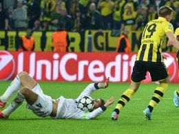 Am Boden: Real-Kapitän Sergio Ramos (hier gegen Kevin Großkreutz).
