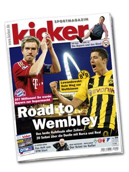 Aktuelle Ausgabe des kicker sportmagazin vom 14.03.2013