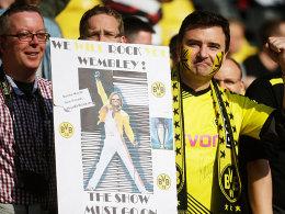 Heiß auf Wembley: Die Dortmunder Fans haben nur noch einen Termin im Kopf.