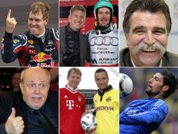 Sebastian Vettel / Felix Neureuther / Heiner Brand / Reiner Calmund / Matthias Eckström & Timo Scheider / Kevin Kuranyi