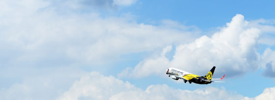 BVB-Flugzeug auf dem Weg nach London