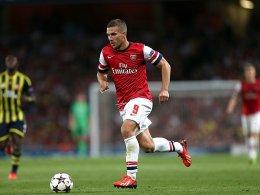 Für Arsenal am Ball: Lukas Podolski.