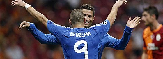 Cristiano Ronaldo und Karim Benzema