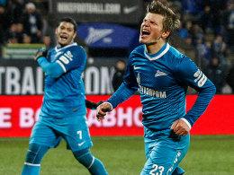 Hulk und Andrey Arshavin (re.)