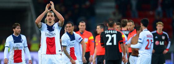 Zlatan Ibrahimovic nach dem Schlusspfiff in Leverkusen