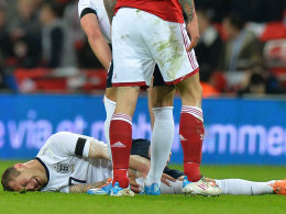 Jack Wilshere verletzte sich bei Englands Testspiel gegen Dänemark am Mittwochabend