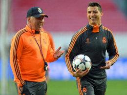 Gute Laune und Zuversicht: Carlo Ancelotti und Cristiano Ronaldo.