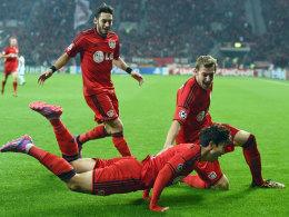 Traf in der 2. Minute gegen Kopenhagen: Leverkusens Son.