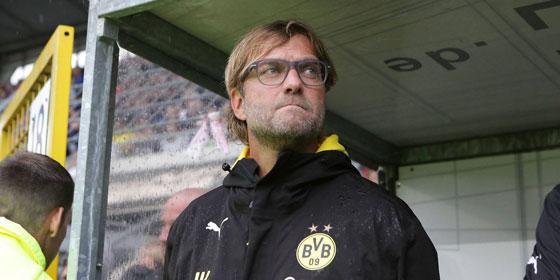 Die Mini-Hoffnungen auf einen Platz in Lostopf eins haben sich zerschlagen: BVB-Coach J�rgen Klopp.