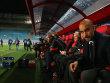 Ungewohntes Szenario in Moskau: Bayern-Coach Pep Guardiola.