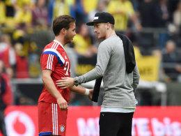 Mario Götze und Marco Reus (r.)