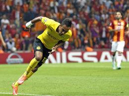 Dortmunds Aubameyang war bei Galatasaray per Doppelpack der Dosenöffner.