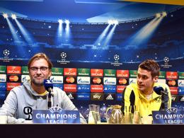 Endlich wieder Champions League: Jürgen Klopp (li.) und Sebastian Kehl wollen die Alltagssorgen samt Tabellenplatz 17 vergessen.