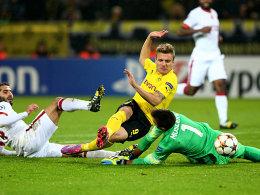 Die Entscheidung in Dortmund: Joker Immobile macht den Sack mit dem 3:1 zu.