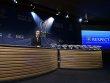 UEFA-Generalsekret�r Gianni Infantino bei der Auslosung des Achtelfinales