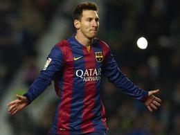 Trifft derzeit nach Belieben - auch am Mittwoch gegen City? Lionel Messi.