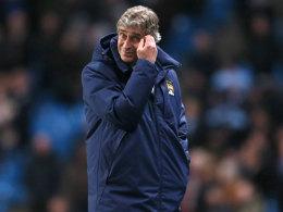 Mit Blick auf die letzten Partien gegen Barcelona wohl nicht sonderlich hoffnungsfroh: City-Coach Manuel Pellegrini.