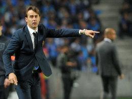 """""""Wir müssen fokussiert, ehrgeizig und hoffnungsvoll sein, dass wir in Führung gehen"""": Portos Trainer Julen Lopetegui."""