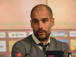 """""""Ich bin sehr, sehr zufrieden, dass ich diese Erfahrung in meinem Leben machen kann"""": Pep Guardiola über das Aufeinandertreffen mit Barcelona."""