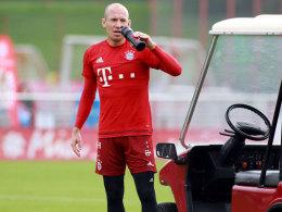 Bleibt in München: Arjen Robben fehlt den Bayern beim Auswärtsspiel bei Arsenal.