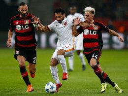 Ömer Toprak und Kevin Kampl gegen Mohamed Salah
