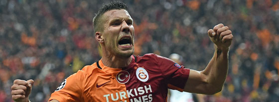 Matchwinner für Galatasaray: Lukas Podolski.