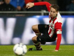 Warten auf das Rückspiel: Wegen einer Gelbsperre muss PSV-Stürmer Luuk de Jong heute gegen Atletico zusehen.
