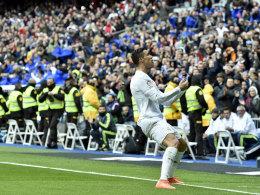 Gab den zuvor polternden Fans eine überragende Antwort: Cristiano Ronaldo brach mal wieder Rekorde.